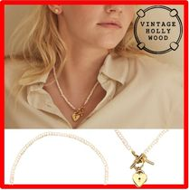VINTAGE HOLLYWOOD Open Your Heart Pearl ネックレ Necklac.e