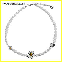 日本未入荷アクセサリー☆TWENTYONEAUGUST☆SMILEY PEARL CHOKER