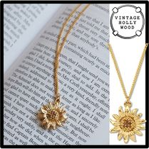 ★VINTAGE HOLLYWOOD ★Vintage Sunflower Necklac.e ★