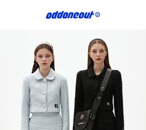 【oddoneout】Two piece tweed jacket SKYBLUE/BLACK
