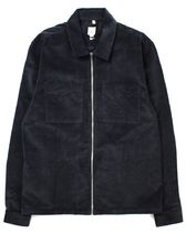 River Island Corduroy Zip Shirt Jacket ブラック コーデュロイ