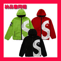 20FW Supreme × The North Face logo hooded fleece jacket