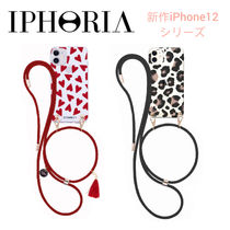 SALE★ハート/豹【送込IPHORIA】iPhone12/Mini/Pro/Max★肩紐付