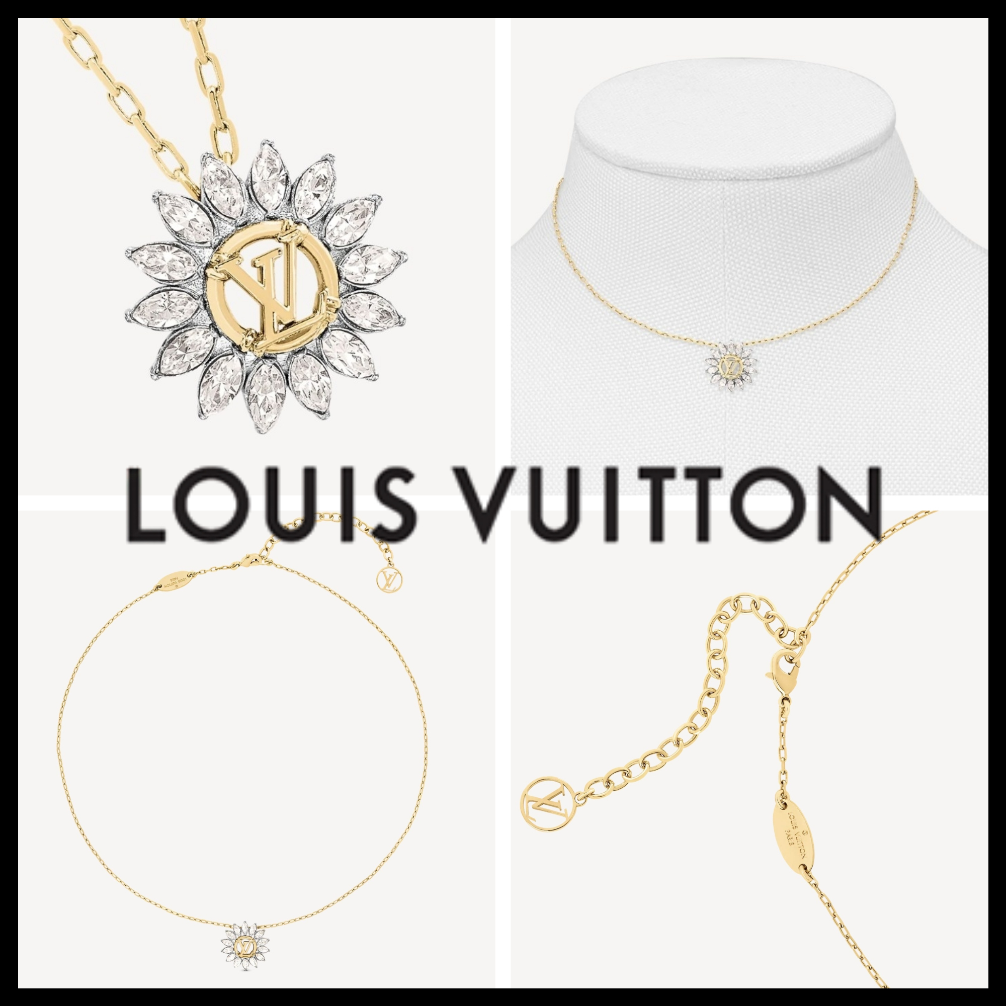 ☆LOUIS VUITTON 20AW新作ネックレス☆ コリエ・LV スターライト (Louis Vuitton/ネックレス・ペンダント) M80262