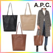 【 A.P.C. 】Maiko ロゴ レザー トートバッグ