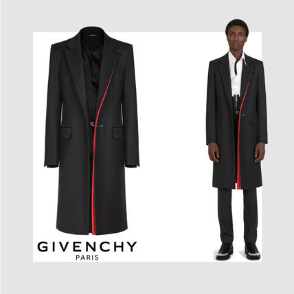 【GIVENCHY】★新作★コントラスト ディテール ウール コート
