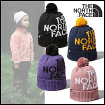 THE NORTH FACE◆Kids' Pom Pom Big Logo Beanie 大きなロゴが◎