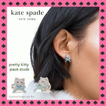 CAT LOVER* Kate Spade *pretty kitty pave studs ピアス