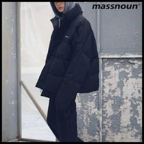 ◆MASSNOUN◆ SL LOGO REFLECTIVE OVERSIZED PADDING JUMPER