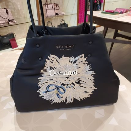 [Kate Spade] トートバッグ everything puffy cat large tote