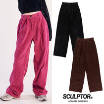 ★SCULPTOR★2020 F/W新作★韓国 Wide Pin Tuck Corduroy Pants