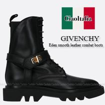 GIVENCHY smooth leather combat boots