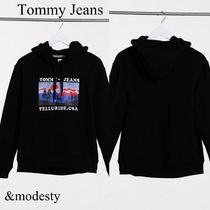 【Tommy Jeans】ロゴ ブラックフーディー グラフィックプリント