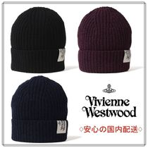 *Vivienne Westwood*すぐお届け/ リブ編み ニットボ帽/国内配送