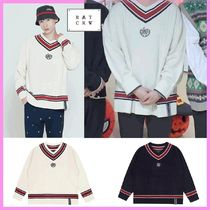 ONF ヒョジン着用☆SUNDAY SYNDROME CLASSIC V NECK KNITWEAR☆