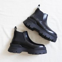 """""""& Other Stories"""" Chunky Leather Chelsea Boots Black"""