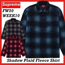 Supreme Shadow Plaid Fleece Shirt FW AW 20 WEEK 10