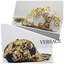 【VERSACE】*Versace Jeans Couture*ロゴプリントキャップ☆W×B