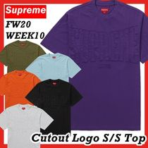 Supreme Cutout Logo SS S/S Top TEE FW AW 20 WEEK 10