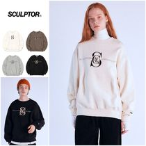 さらに100円引き◆SCULPTOR◆Satin Applique Sweatshirt
