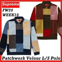 Supreme Patchwork Velour L/S LS Polo AW FW 20 WEEK 10