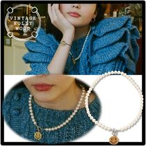 ★VINTAGE HOLLYWOOD★Pixel Smile Pearl Necklac.e★ネックレス