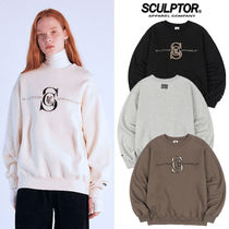★SCULPTOR★2020FW新作★スウェット Satin Applique Sweatshirt
