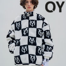 ★OY★CHECK LOGO FLEECE JACKET- BLACK★正規品/韓国直送料込