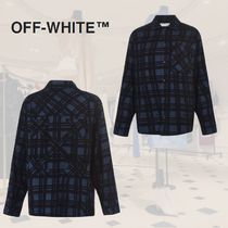 新作**Off-White**オフホワイト** FLANNEL CHECKED SHIRT