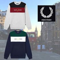 FRED PERRY(フレッドペリー) スウェット・トレーナー 【関税・送料込み】FRED PERRY Three Colour Crew Sweat Shirt
