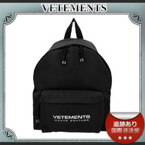 20AW/送料込≪VETEMENTS≫ ロゴ ナイロン バックパック