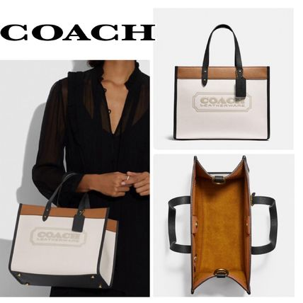 COACH*新 Field Tote 30 Colorblock Coach Badge トート バッグ