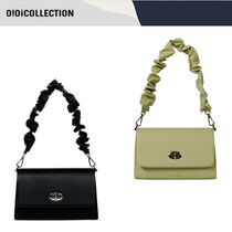 ★20-21FW新作★OiOiCOLLECTION★LEATHER SHIRRING BAG