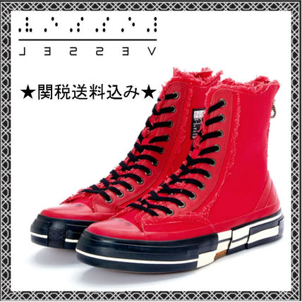 XVESSEL スニーカー 日本未入荷★XVESSEL G.O.P. Highs for Yohji Yamamoto RED