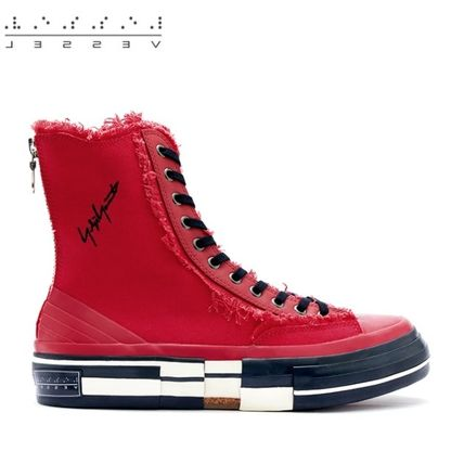 XVESSEL スニーカー 日本未入荷★XVESSEL G.O.P. Highs for Yohji Yamamoto RED(4)