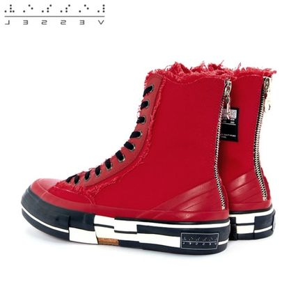 XVESSEL スニーカー 日本未入荷★XVESSEL G.O.P. Highs for Yohji Yamamoto RED(6)