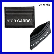 VIP価格【Off-White】leather quote card holder 関税込