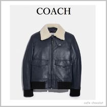 【COACH】5710 Shearling Collar Bomber Jacket