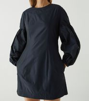 """""""COS"""" R-POLYESTER OVERSIZED SLEEVE STRUCTURED DRESS NAVY"""