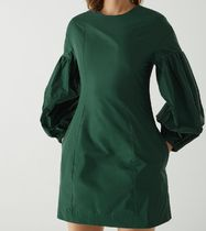 """""""COS"""" R-POLYESTER OVERSIZED SLEEVE STRUCTURED DRESS GREEN"""