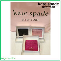 国内発送【kate spade】lola glitter boxed small card holder