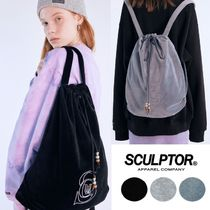 SCULPTOR★韓国★日本未入荷★Velour Hotfix Gym Sack 3色