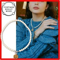 ☆VINTAGE HOLLYWOOD☆Pixel Smile Pearl Necklac.e☆ネックレス