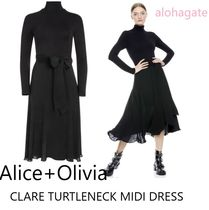 ☆Alice+Olivia☆タートルネックドレスCLARE TURTLENECK DRESS/B