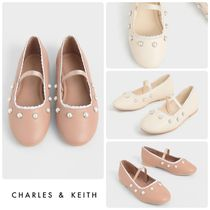 ★CHARLES&KEITH★Girls' Studded Mary Jane Flats/送料込
