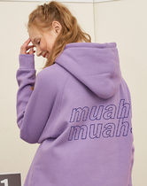【muahmuah】POINT LOGO NAPPING HOODIE フード(4color)