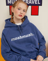 【muahmuah】LOWER PRINTING NAPPING HOODIE フード(6color)