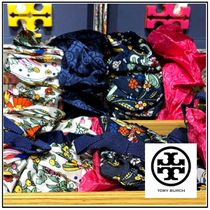 Tory Burch☆PRINTED SILK SCRUNCHIE☆シュシュ2個セット☆送込
