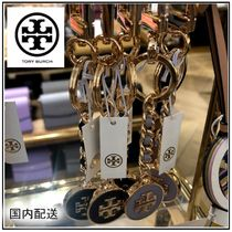 Tory Burch☆MERCER LEATHER INLAY KEY FOB キーホルダー☆送込