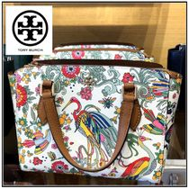 Tory Burch☆EMERSON PRINTED TOP ZIP TOTE ミニトート☆送料込